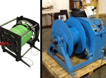 ROV Electric winch and hand reel ARMS