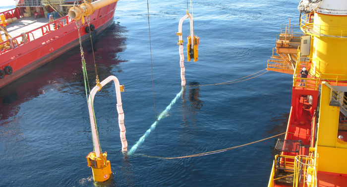 Offshore Client Rep Spool Installation